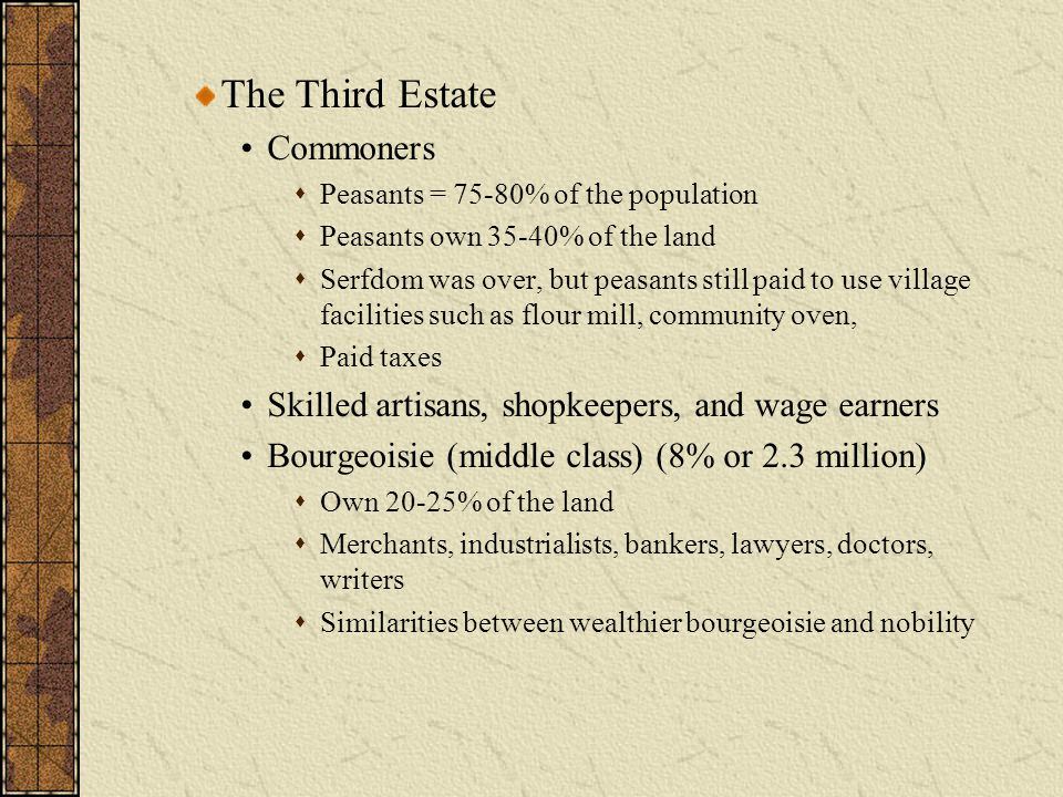 The Third Estate Commoners