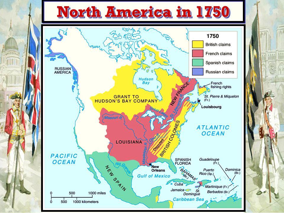 North America in 1750