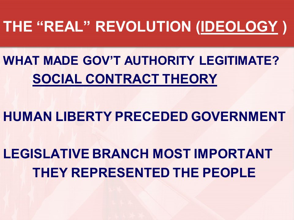 THE REAL REVOLUTION (IDEOLOGY )