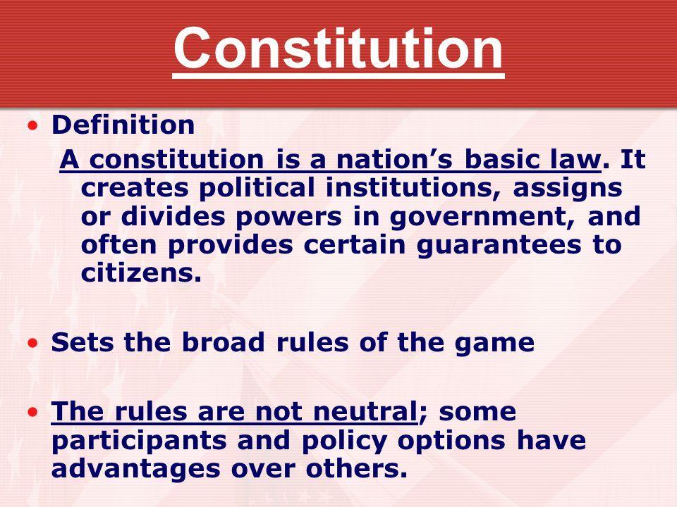 Constitution Definition