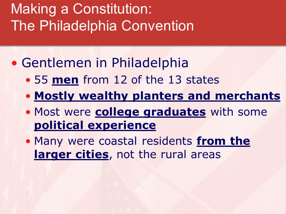 Making a Constitution: The Philadelphia Convention