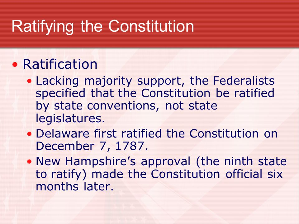 Ratification of the Constitution Essay Sample