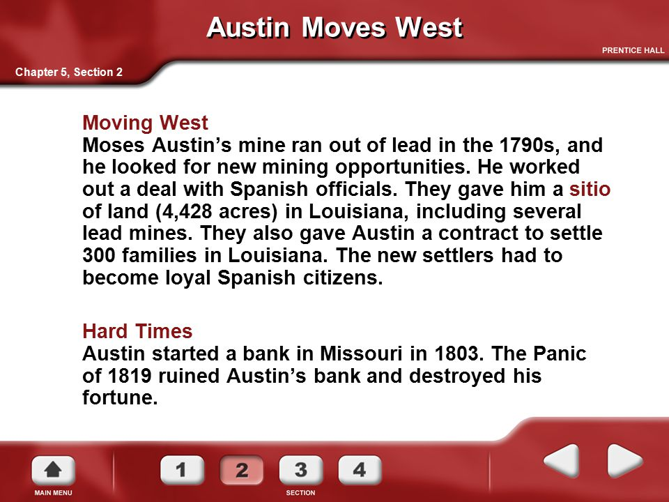 Austin Moves West Chapter 5, Section 2.