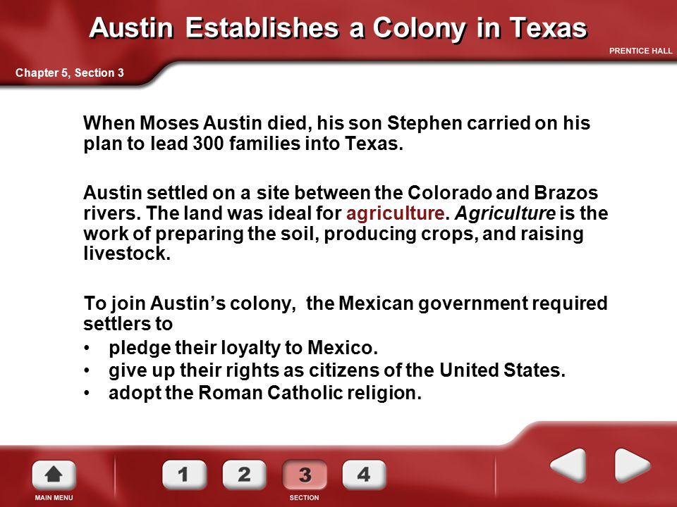 Austin Establishes a Colony in Texas