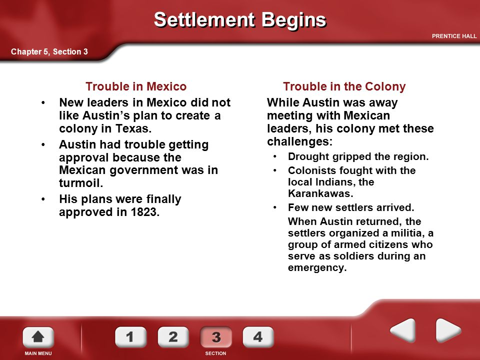 Settlement Begins Trouble in Mexico