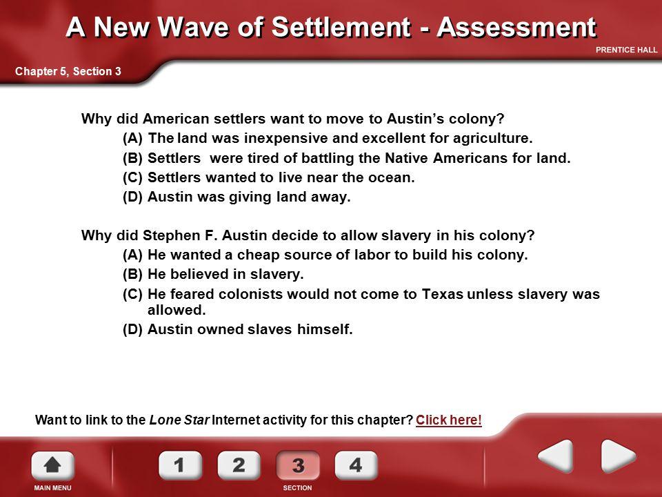 A New Wave of Settlement - Assessment