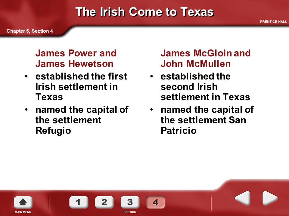 The Irish Come to Texas James Power and James Hewetson