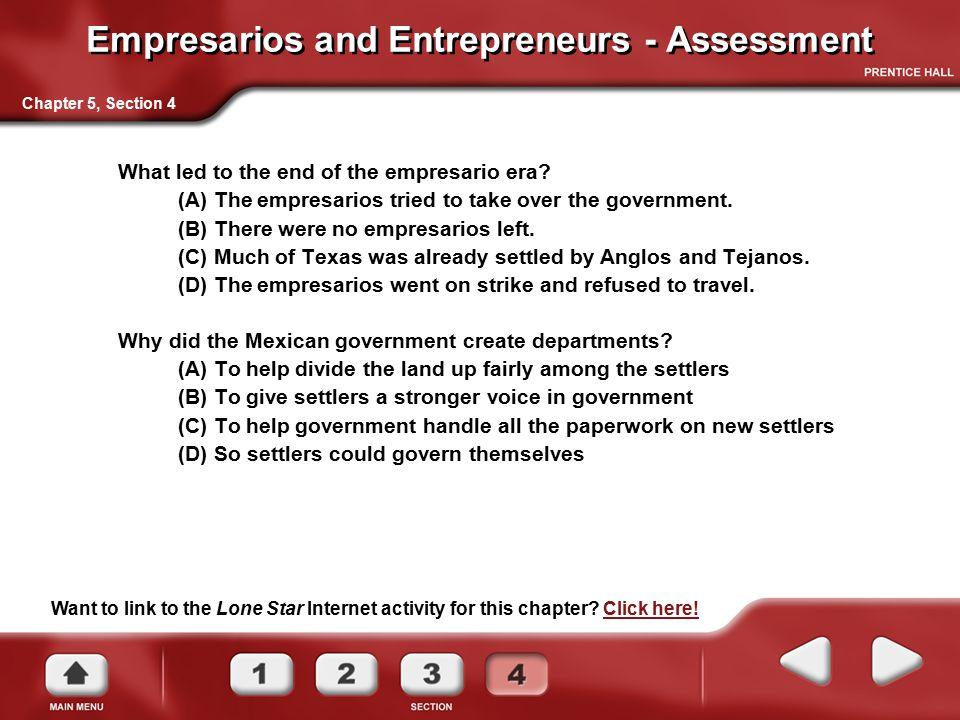 Empresarios and Entrepreneurs - Assessment