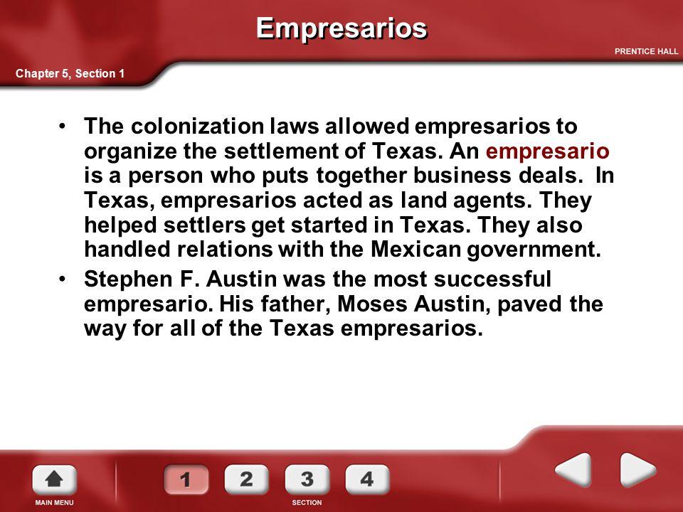 Empresarios Chapter 5, Section 1.