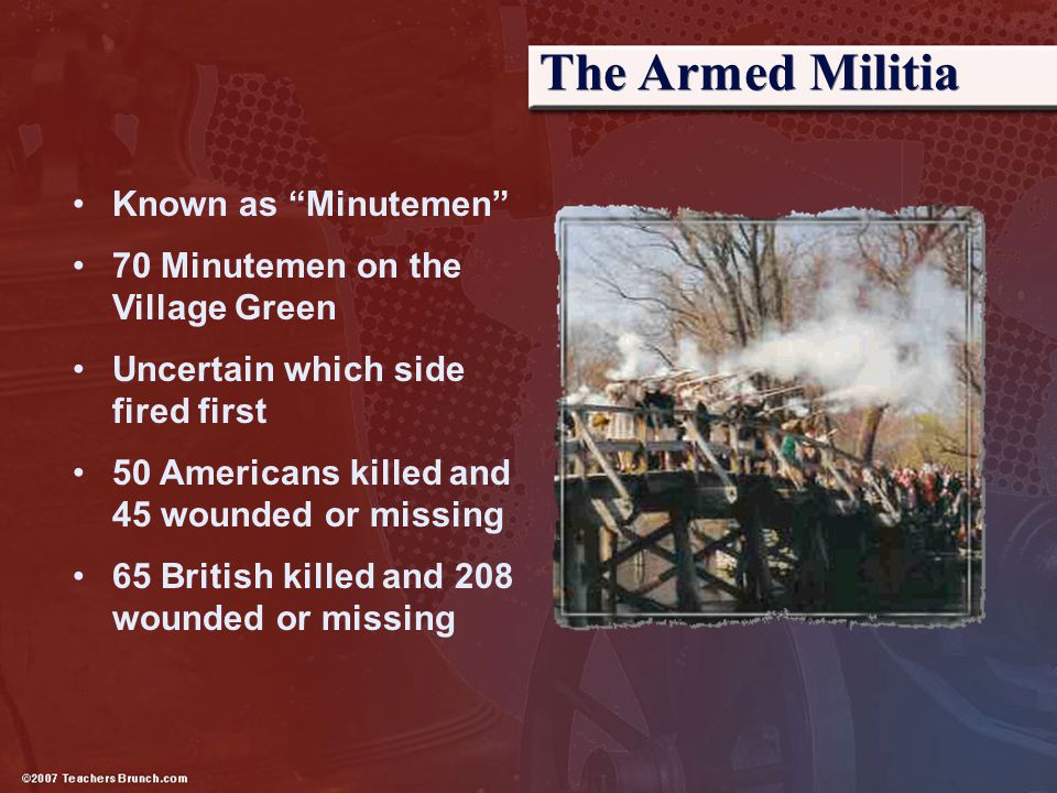 The Armed Militia Known as Minutemen
