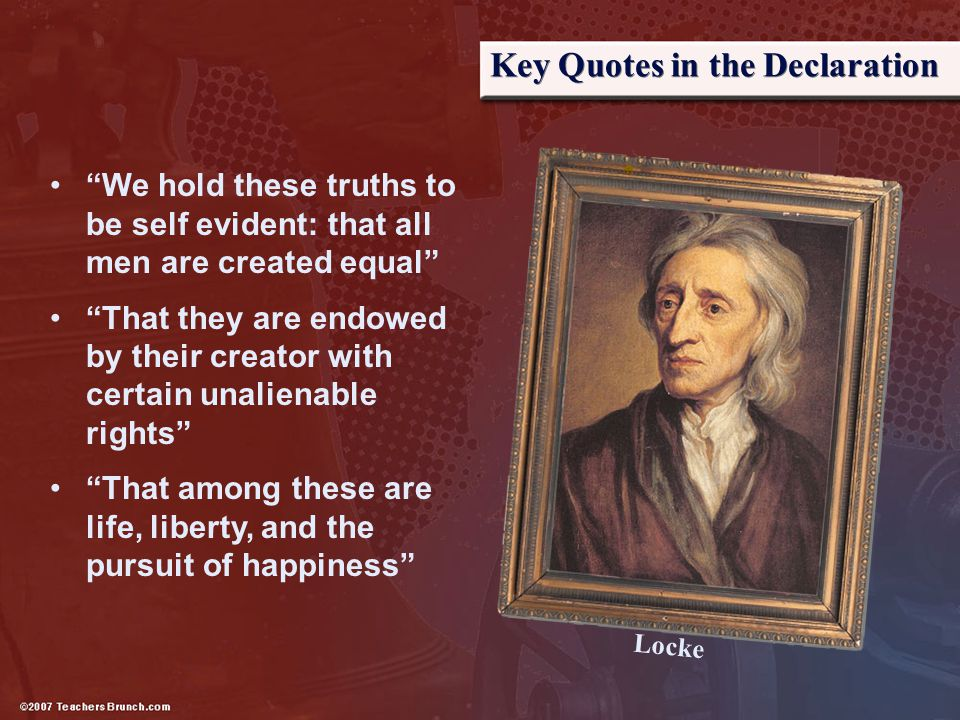 Key Quotes in the Declaration