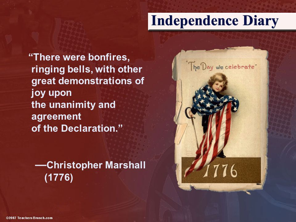 Independence Diary —Christopher Marshall (1776)