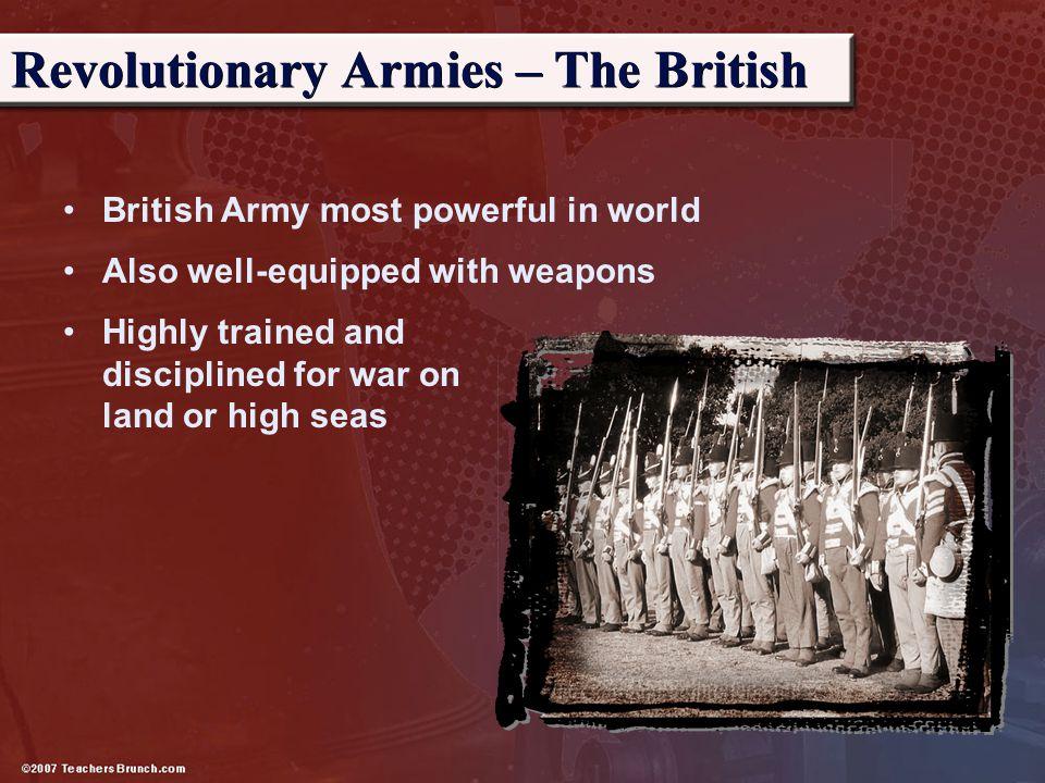Revolutionary Armies – The British