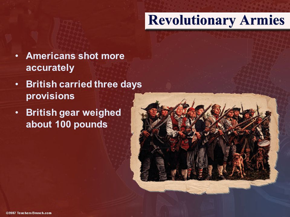Revolutionary Armies Americans shot more accurately