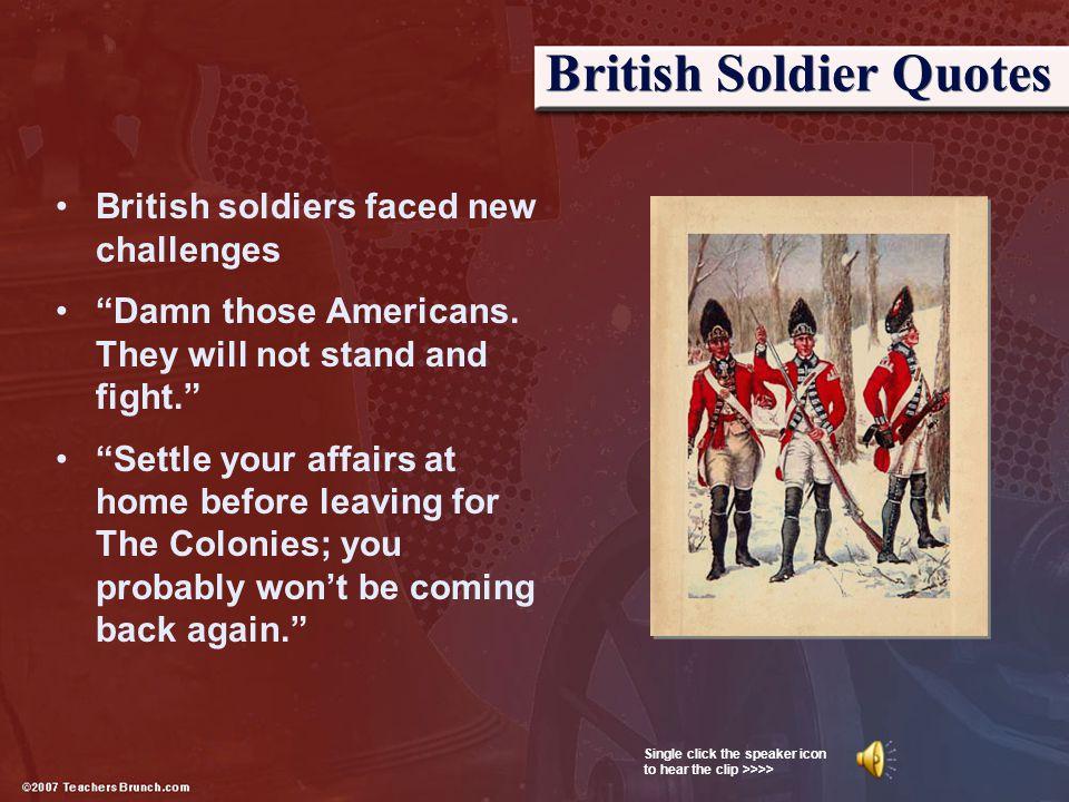 British Soldier Quotes