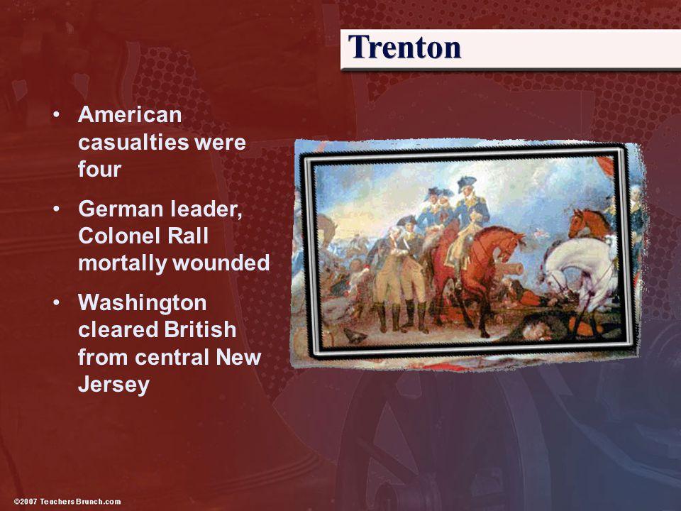 Trenton American casualties were four