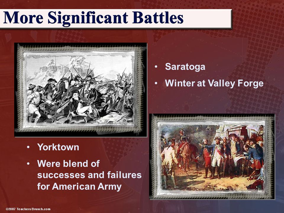 More Significant Battles