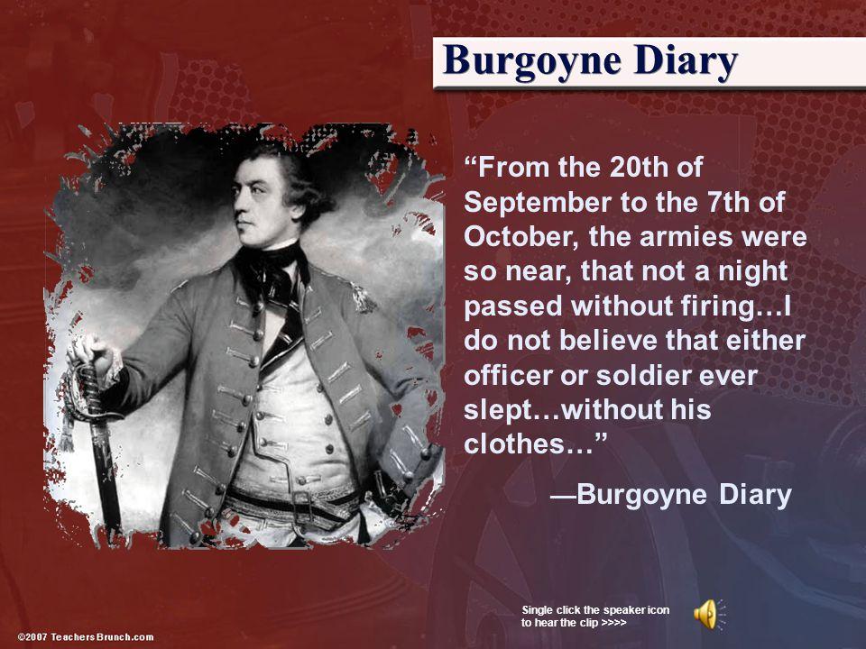 Burgoyne Diary