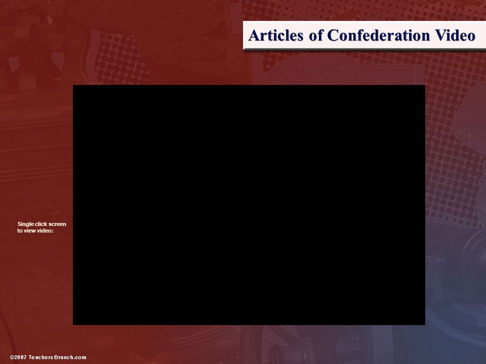 Articles of Confederation Video