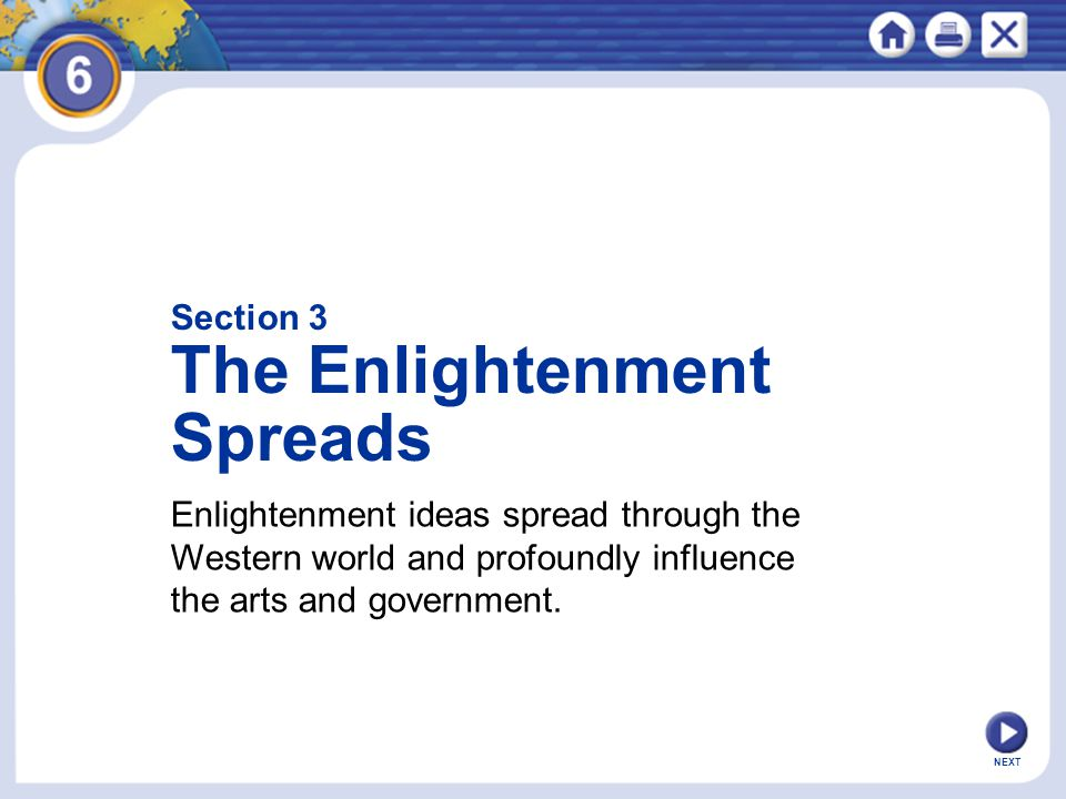 The Enlightenment Spreads Section 3
