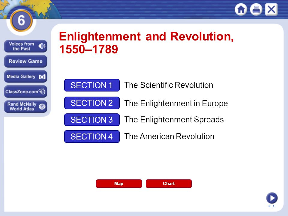 Enlightenment and Revolution, 1550–1789