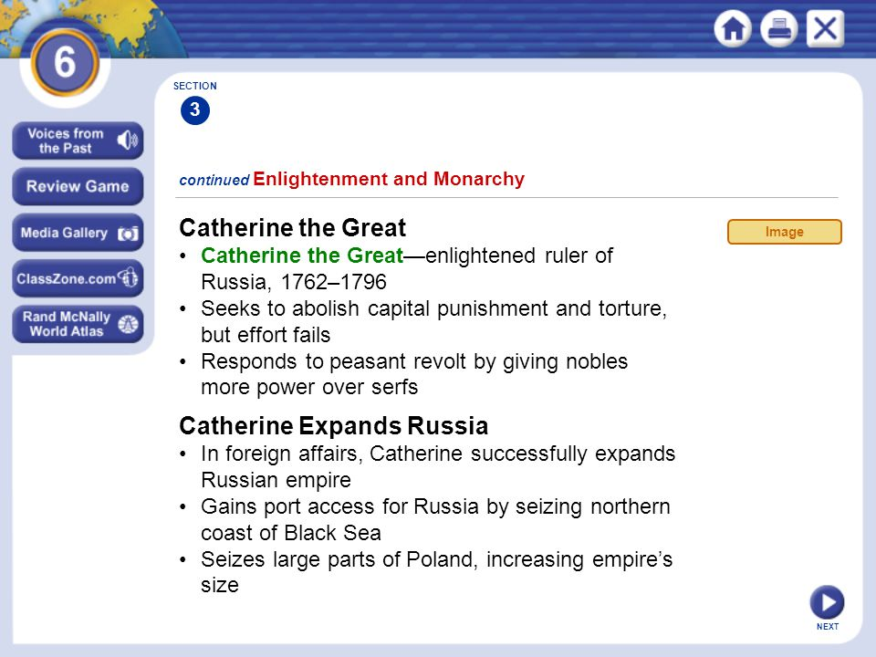 Catherine Expands Russia