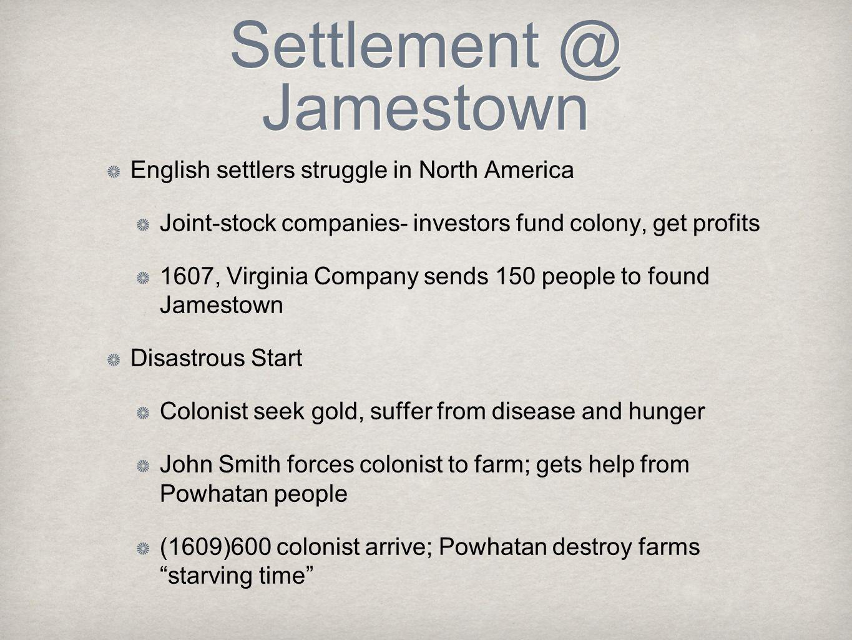 Settlement @ Jamestown