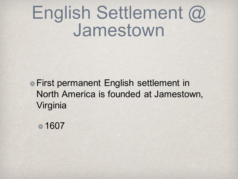 English Settlement @ Jamestown
