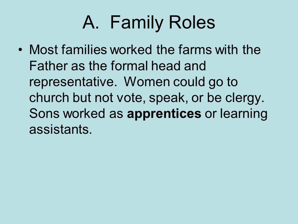 A. Family Roles