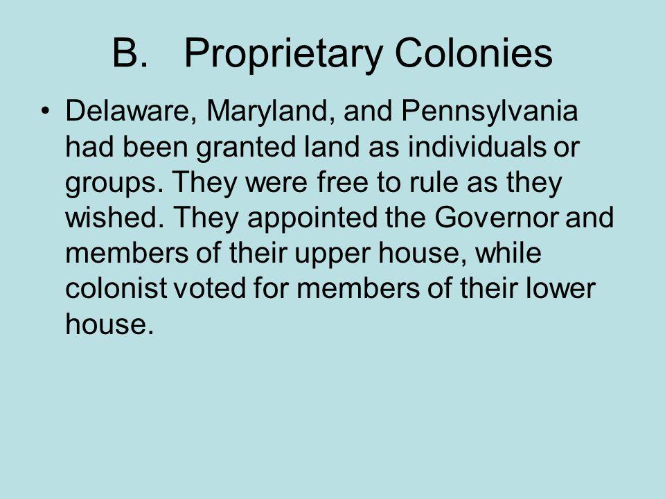 B. Proprietary Colonies