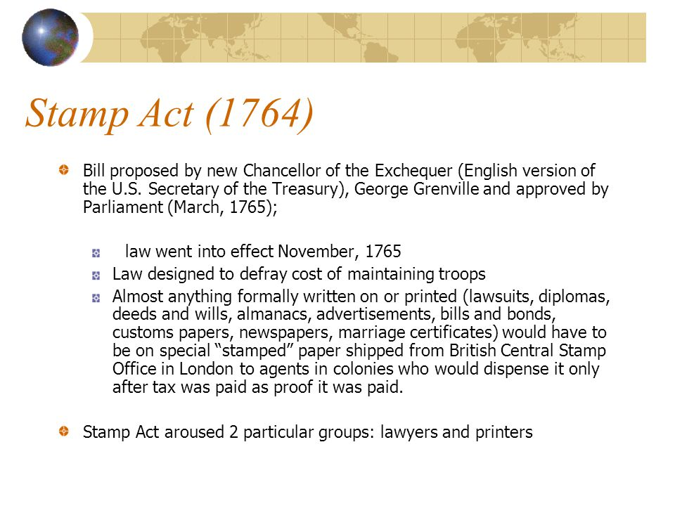 Stamp Act (1764)