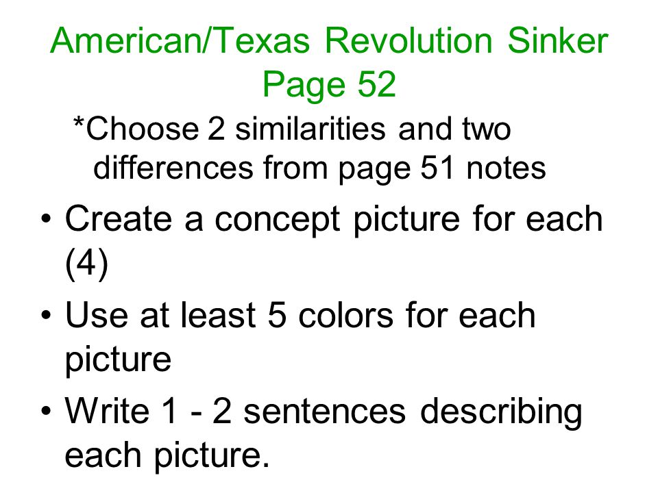 American/Texas Revolution Sinker Page 52