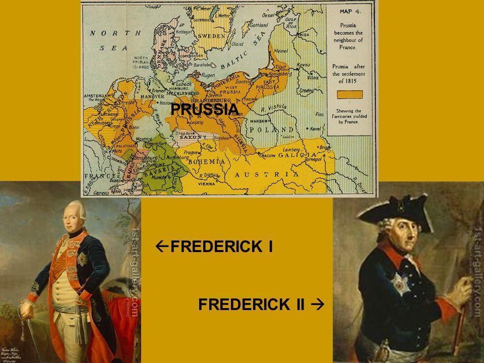 PRUSSIA FREDERICK I FREDERICK II 