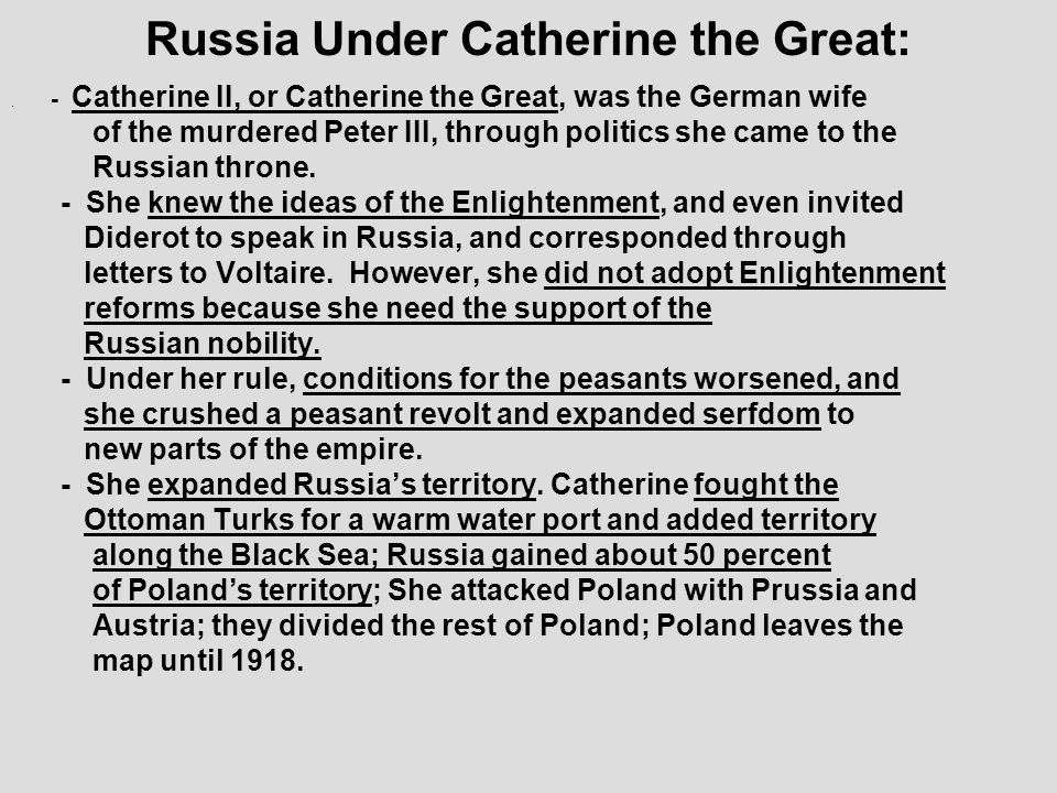 Russia Under Catherine the Great: