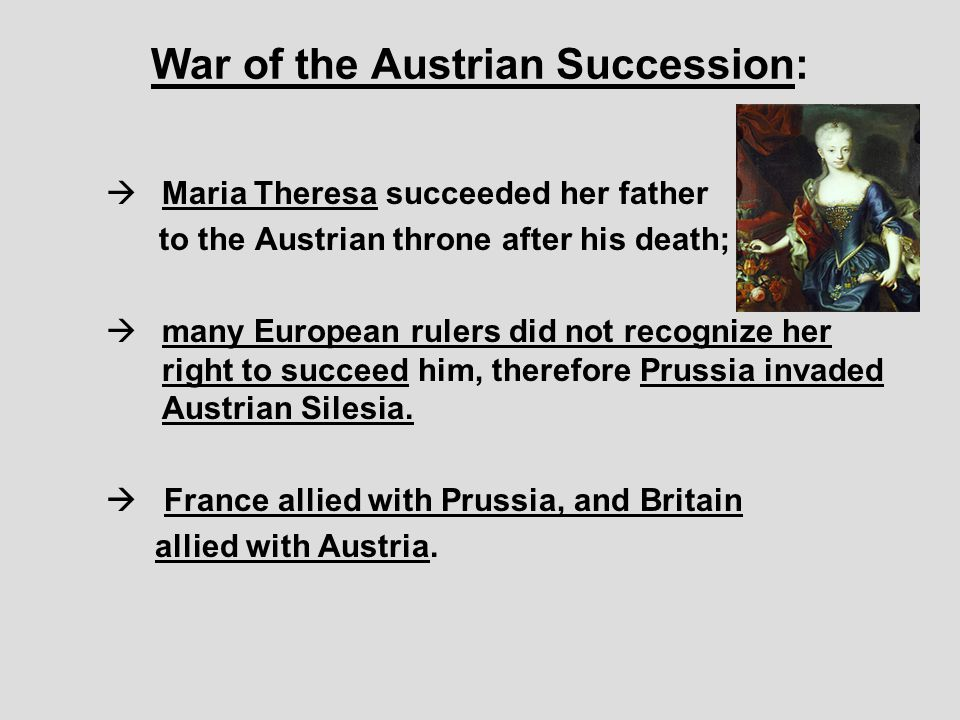 War of the Austrian Succession: