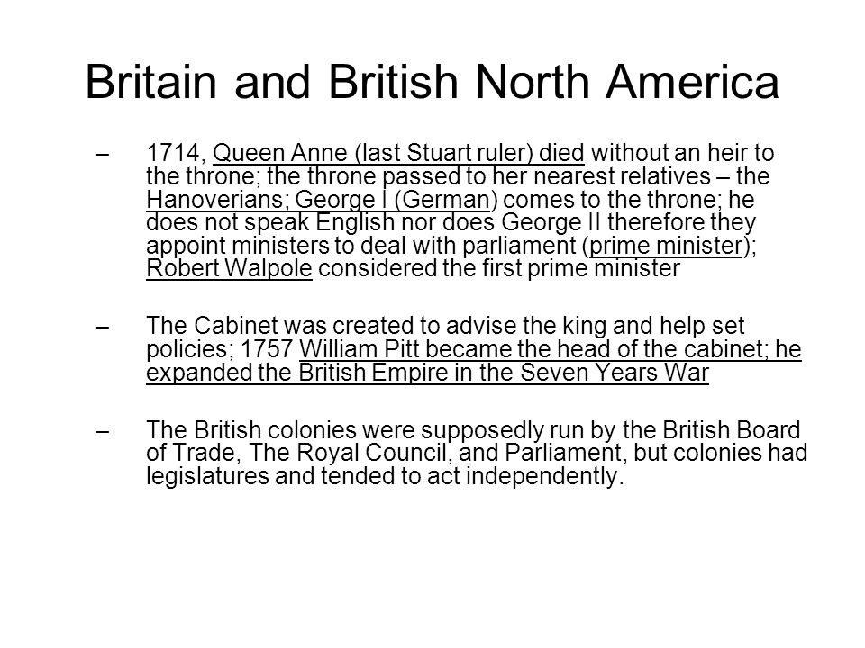 Britain and British North America