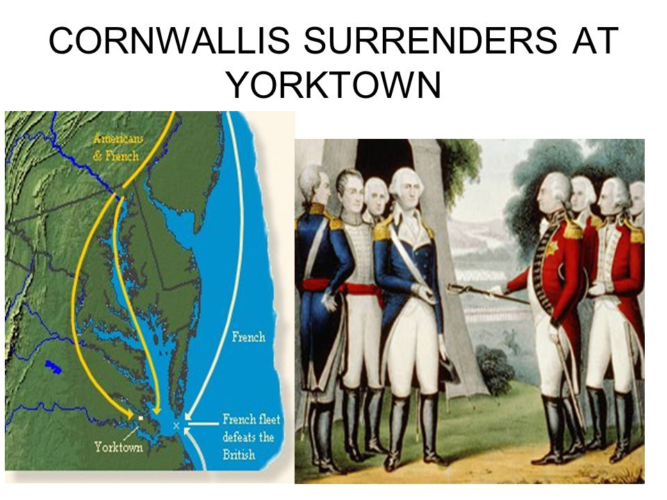 CORNWALLIS SURRENDERS AT YORKTOWN