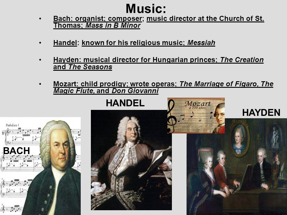 Music: HANDEL HAYDEN BACH