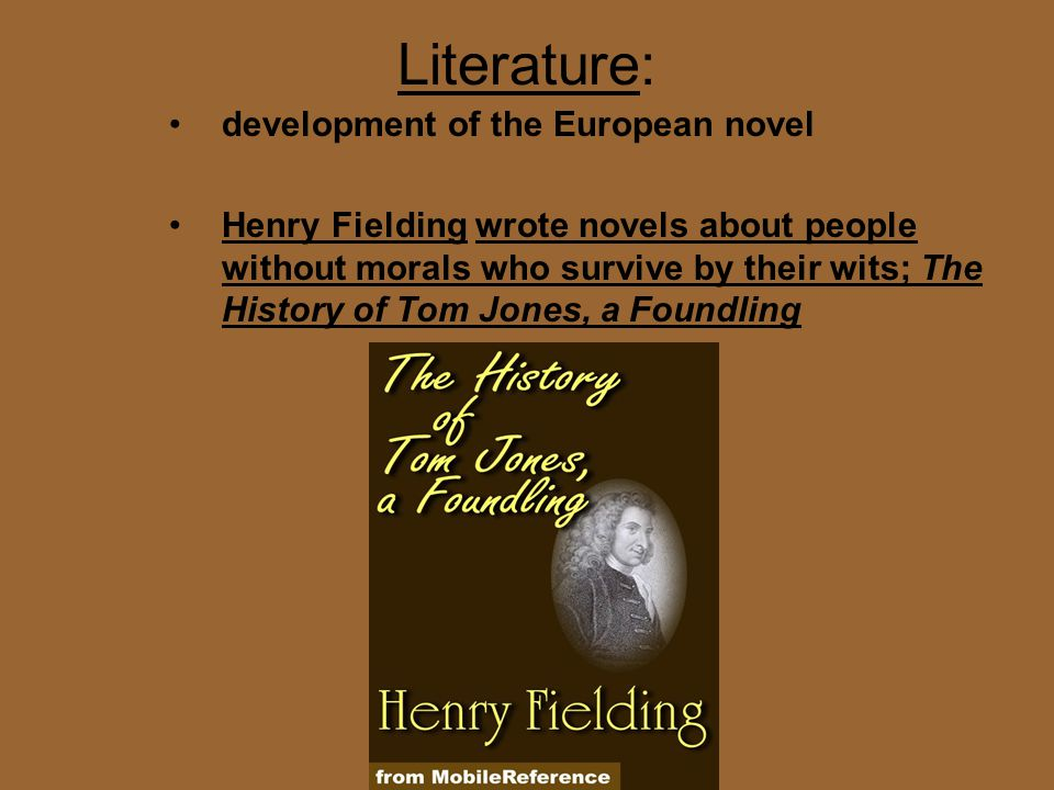 Literature: development of the European novel