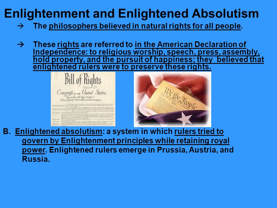 Enlightenment and Enlightened Absolutism