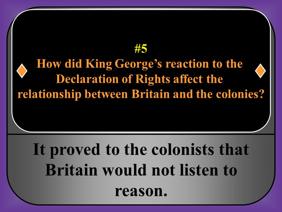 It proved to the colonists that Britain would not listen to reason.