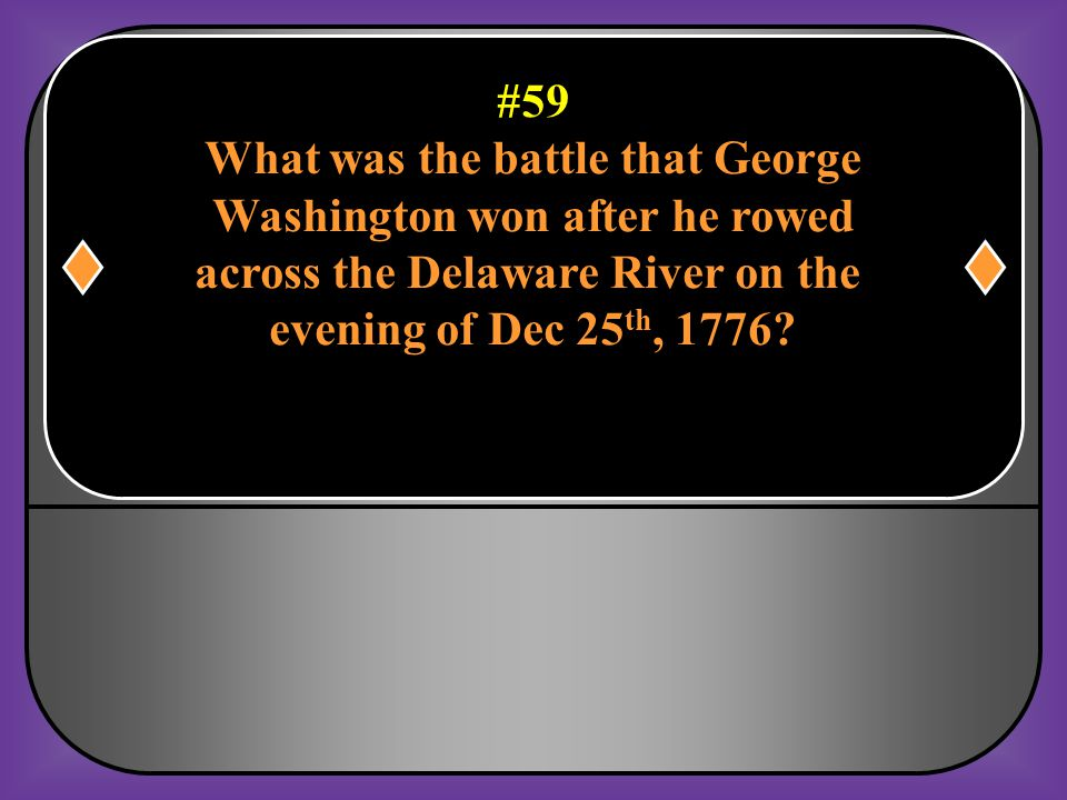 What was the battle that George Washington won after he rowed