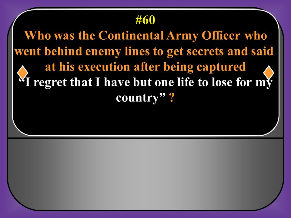 Who was the Continental Army Officer who