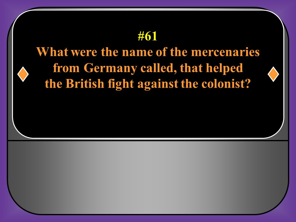 What were the name of the mercenaries from Germany called, that helped