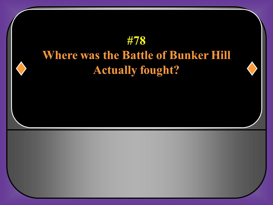 Where was the Battle of Bunker Hill