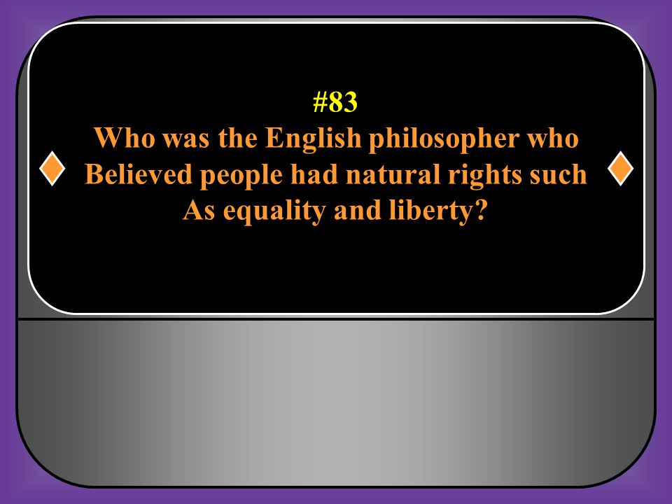 Who was the English philosopher who
