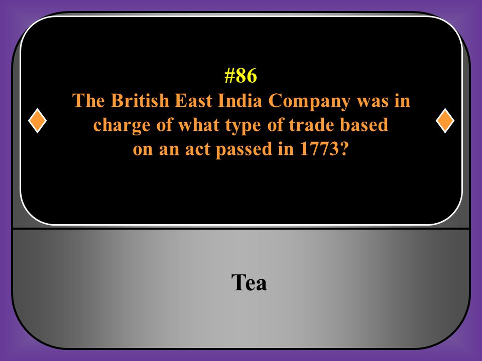 Tea #86 The British East India Company was in