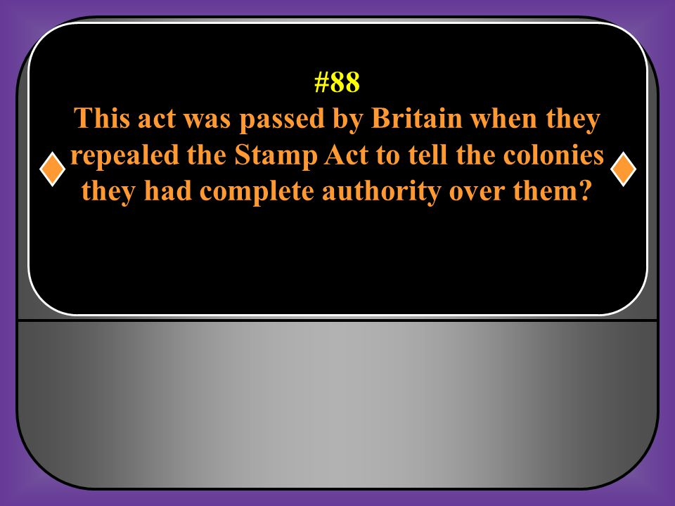 This act was passed by Britain when they