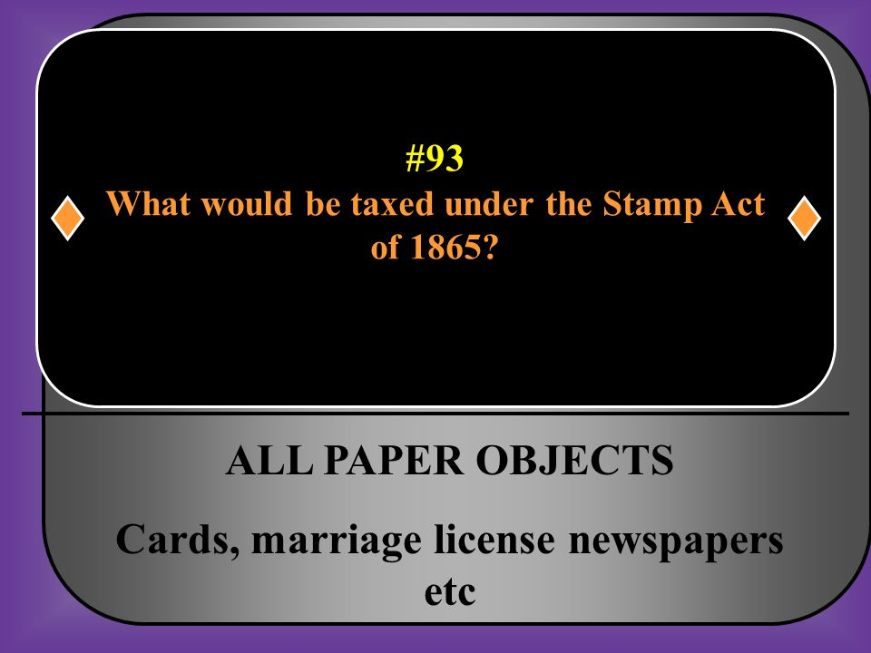 What would be taxed under the Stamp Act