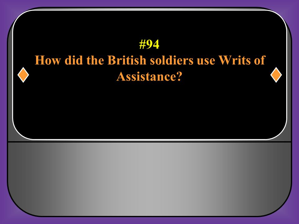 How did the British soldiers use Writs of
